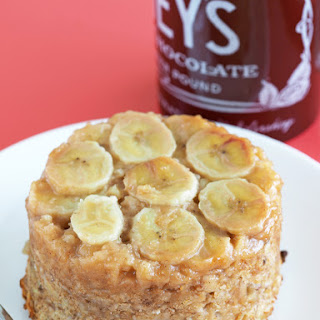 Banana Upside Down Cake Baked Oatmeal