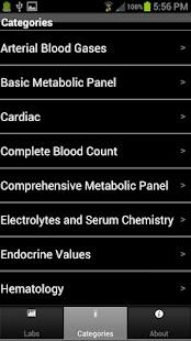 Pharmacy Lab Values- screenshot thumbnail
