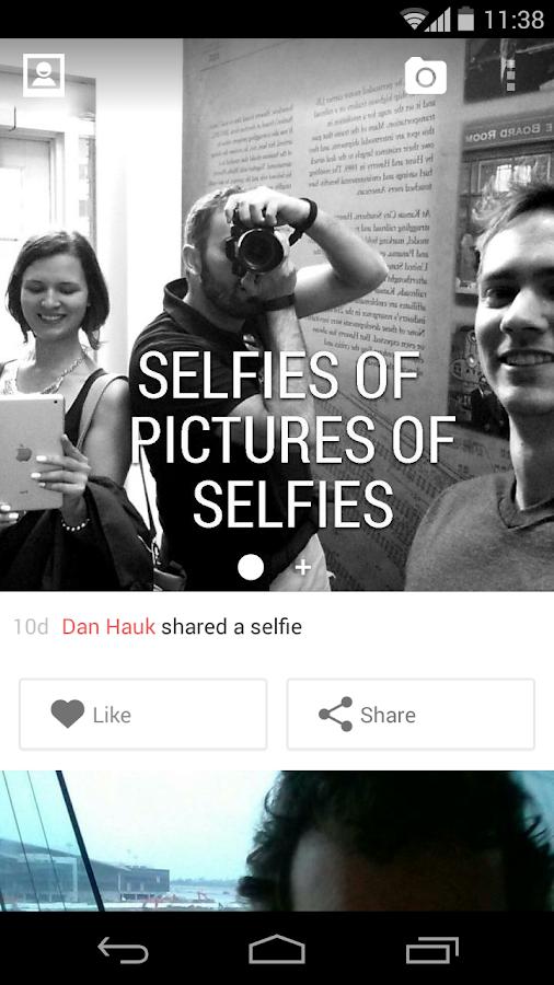 Selfies - screenshot