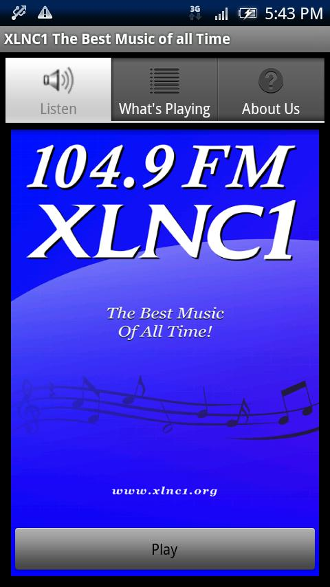 104.9 FM XLNC1 - screenshot