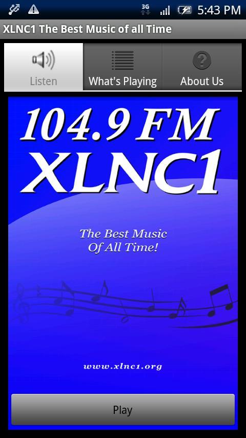 104.9 FM XLNC1 - screenshot