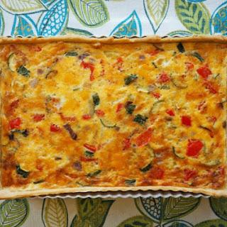Easy Vegetarian Quiche.