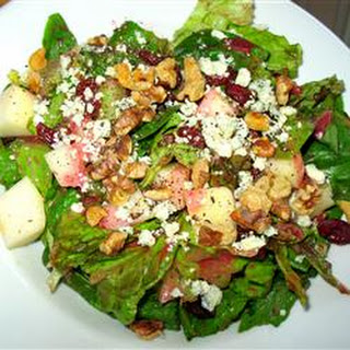 Fall Salad with Cranberry Vinaigrette.