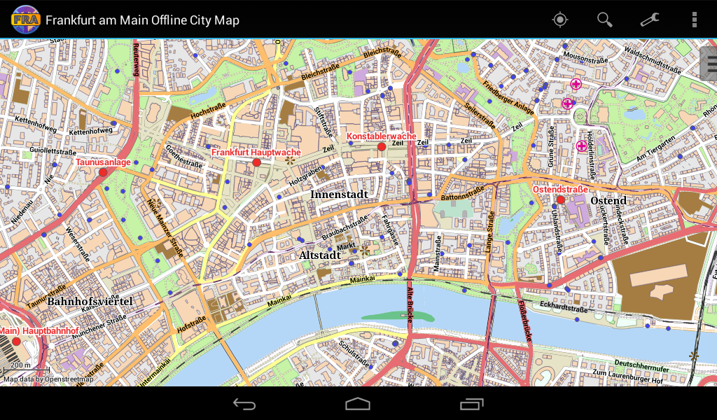 Frankfurt Offline City Map  Android Apps On Google Play