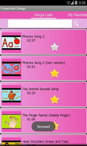 Preschool kids songs