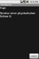 Screenshot of PhysikKartenApp