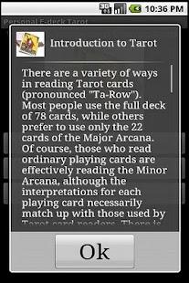 Personal E-deck Tarot - screenshot thumbnail