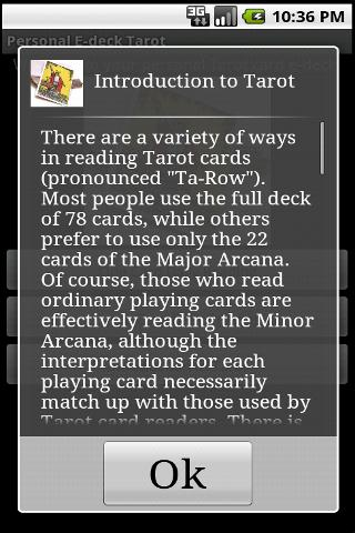 Personal E-deck Tarot - screenshot