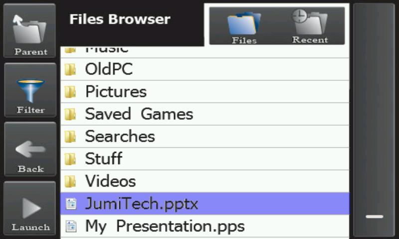 JumiPresenter- screenshot