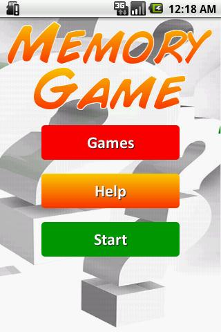 Training Memory - Game - screenshot