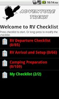 Screenshot of RV Checklist