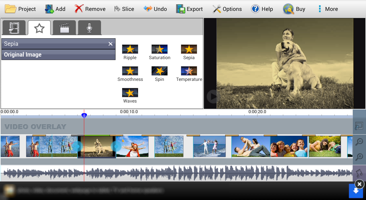 VideoPad Free Video Editor - screenshot