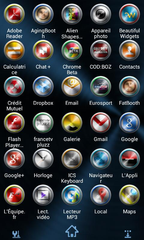 Next Launcher Theme Metal - screenshot