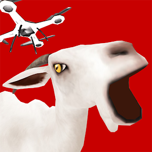 动作のDrone with Goat Simulator LOGO-記事Game