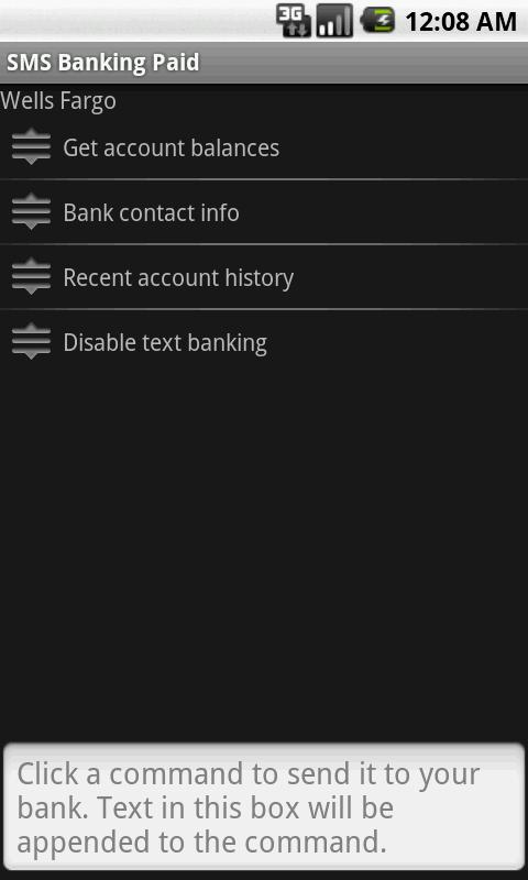 SMS Banking Paid - screenshot