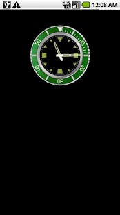 Green Rolex Clock Widget - screenshot thumbnail