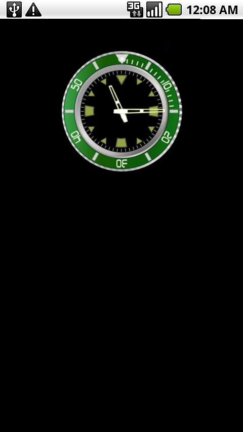 Green Rolex Clock Widget - screenshot