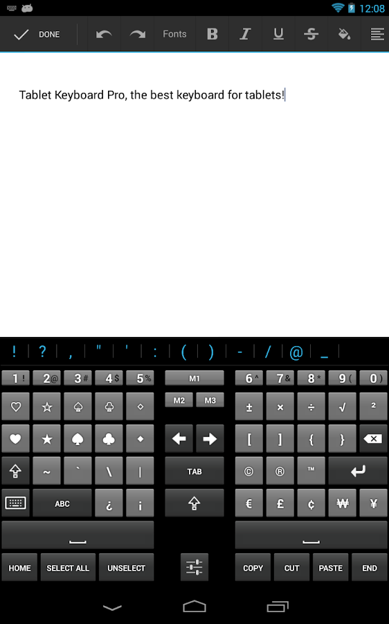 Tablet Keyboard Pro- screenshot