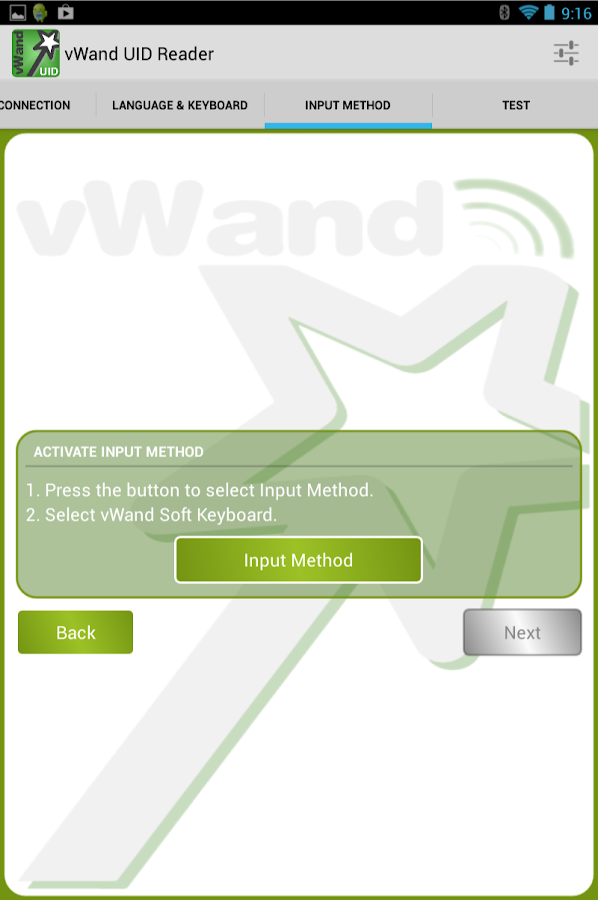 vWand UID Reader- screenshot