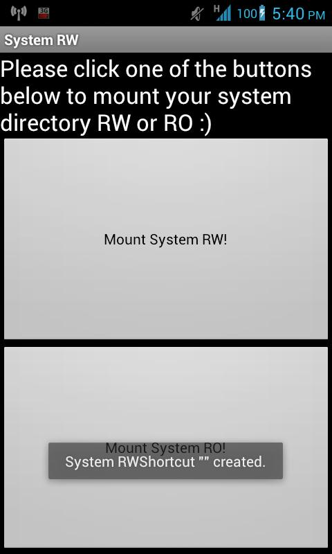 System RW/RO (Donate) - screenshot