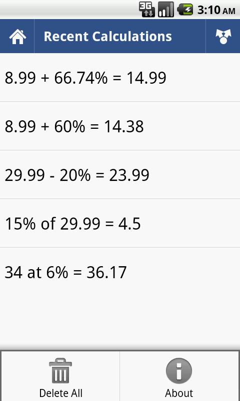 Percent Calculator- screenshot