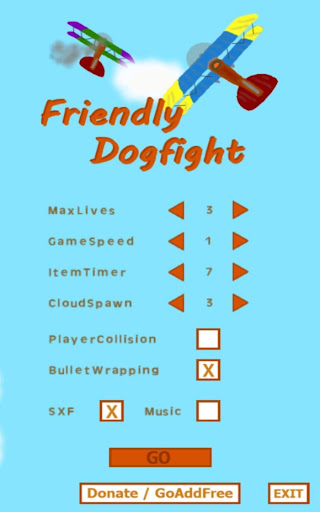Friendly Dogfight X 2player