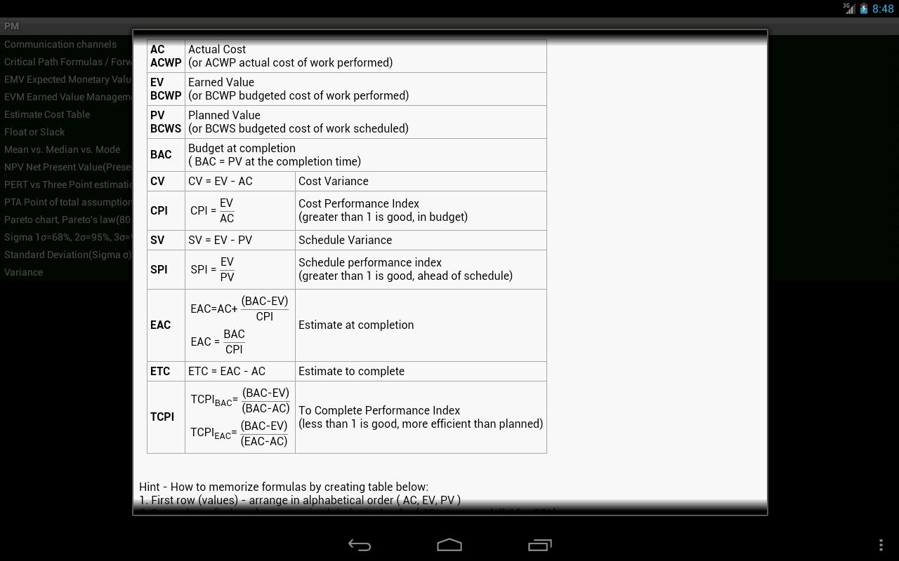 pmp formulas 5th edition pdf