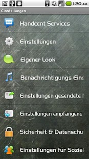 Handcent SMS Germany Language- screenshot thumbnail