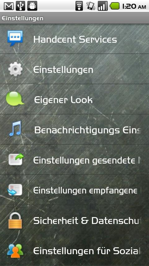 Handcent SMS Germany Language - screenshot