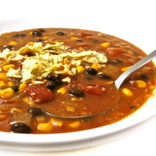 Skinny Tortilla Soup, Vegetarian-Style