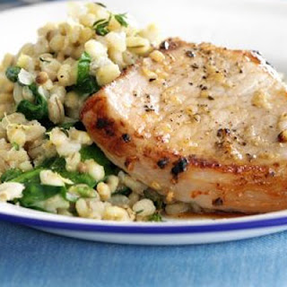 Grilled Pork with Lemon & Thyme Barley Recipe