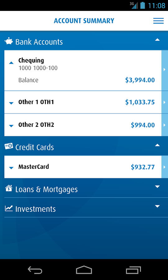 BMO Mobile Banking- screenshot