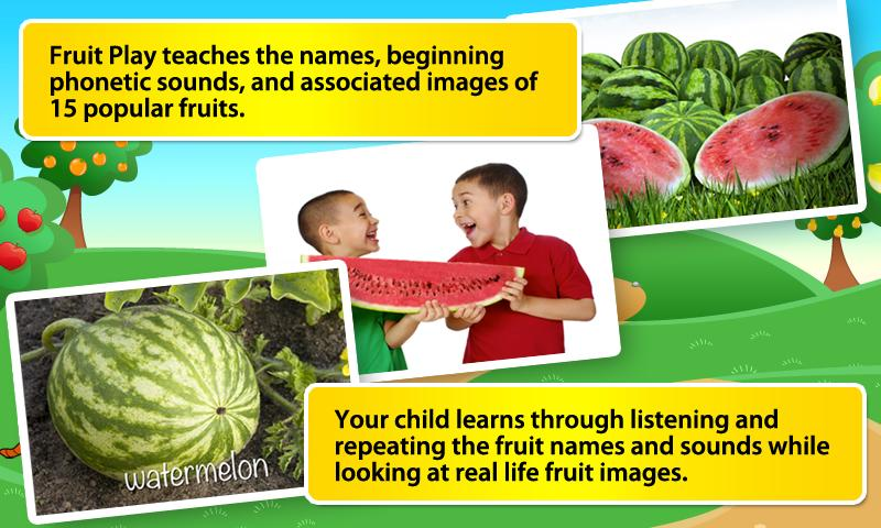 Toddlers First Words Fruits- screenshot