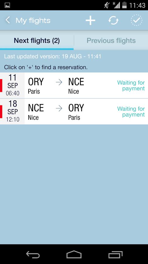 Air France - screenshot