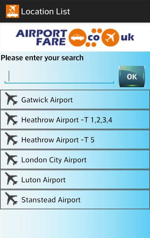 Airport Fare- screenshot