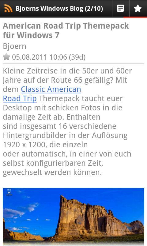 Bjoerns Windows Blog - screenshot