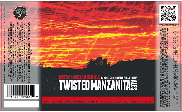 Logo of Twisted Manzanita Rustic Horizon Red Ale