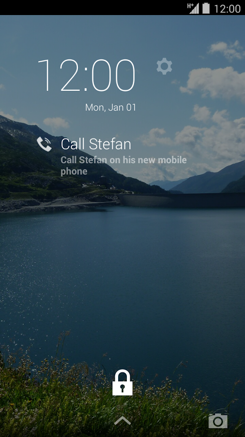 DashClock custom extension - screenshot