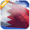 3D Bahrain Flag Live Wallpaper