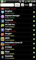 Screenshot of PDroid Privacy Protection