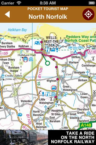 玩旅遊App|North Norfolk Tourist Map免費|APP試玩