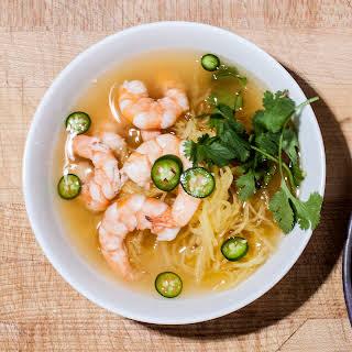 Lemongrass Shrimp Soup with Spaghetti Squash.