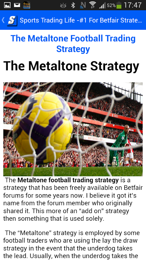 STL - Strategies For Betfair- screenshot