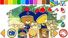 子供向け無料知育アプリ「がんばれ!ルルロロのぬりえ絵本」のおすすめ画像1