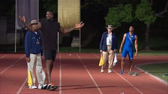 Shaq vs. Rachael Ray and Tyson Gay