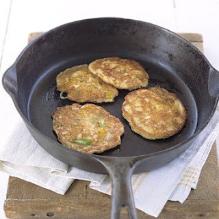 Crispy Cheddar Cakes with Bacon