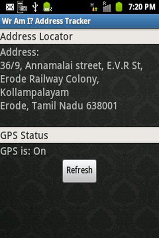 Wr Am I Address Locator