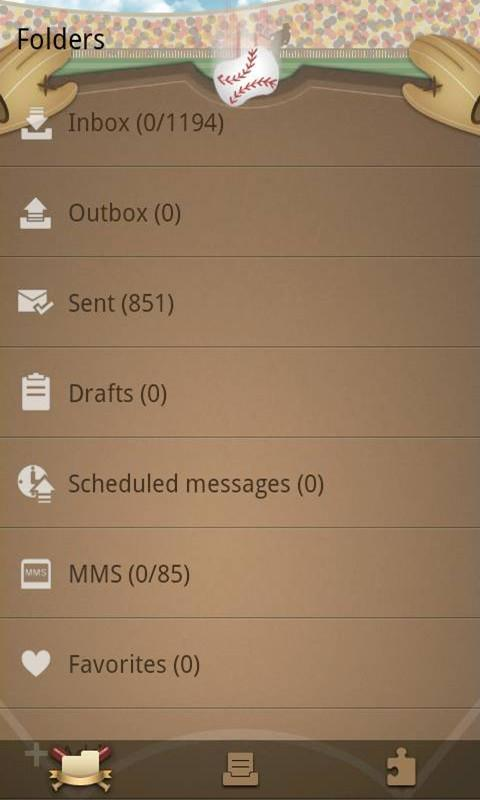 GO SMS Pro baseball ThemeEX - screenshot