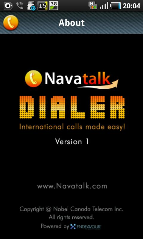 Navatalk Dialer - screenshot