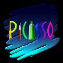 피카소 - 스크래치, 스탬프 그림판 icon